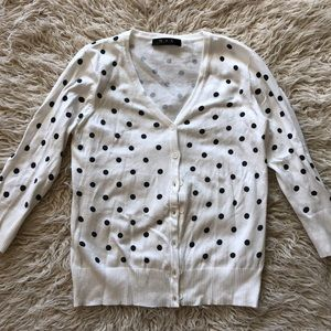 Mak for ModCloth polka dot cardigan